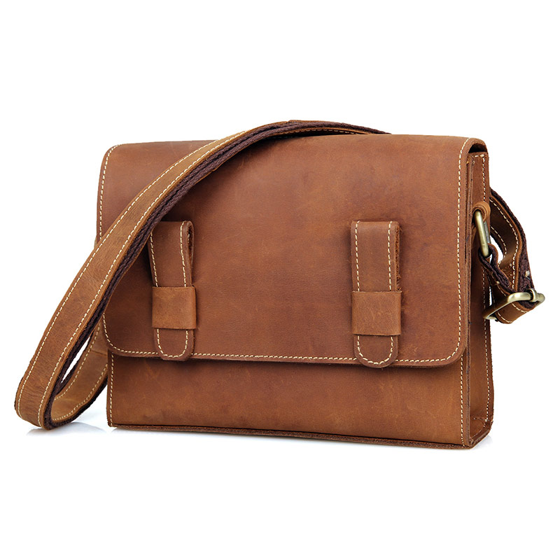 C005B New Design Crazy Horse Leather Classic Sling Bag for Girls