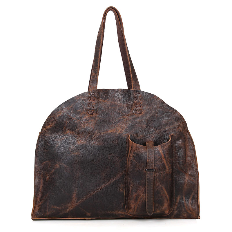 C006Q Classic Natural Leather Magic Lady Tote Bag Shopping Bag