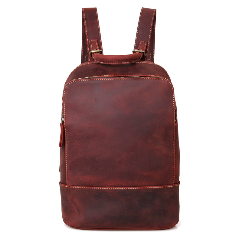 C008X Wholesale Brand Fashion Classic Natural Leather School Backpack for Girls
