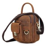 1003B Crazy Horse Leather Durable Small Sling Bag Handbag Belt Bag