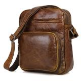 1008B Popular Brown Vintage Genuine Leather Messenger Bag Supplier in China