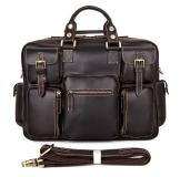 7028Q Rare Cow Leather Men's Briefcase Laptop Bag