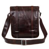 7109C Real Natural Vintage Leather Unisex Shoulder Messenger Bag Crossbody Purse