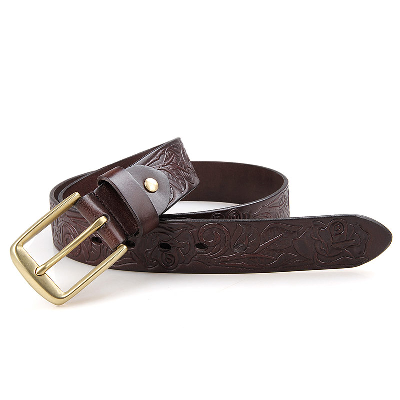 B013Q Durable Vegetable Leather Men Dressed Belt Factory