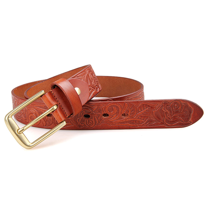 B013B-1 Belts for Women Lady/Woman Belt/Real Leather Belt Brown Red