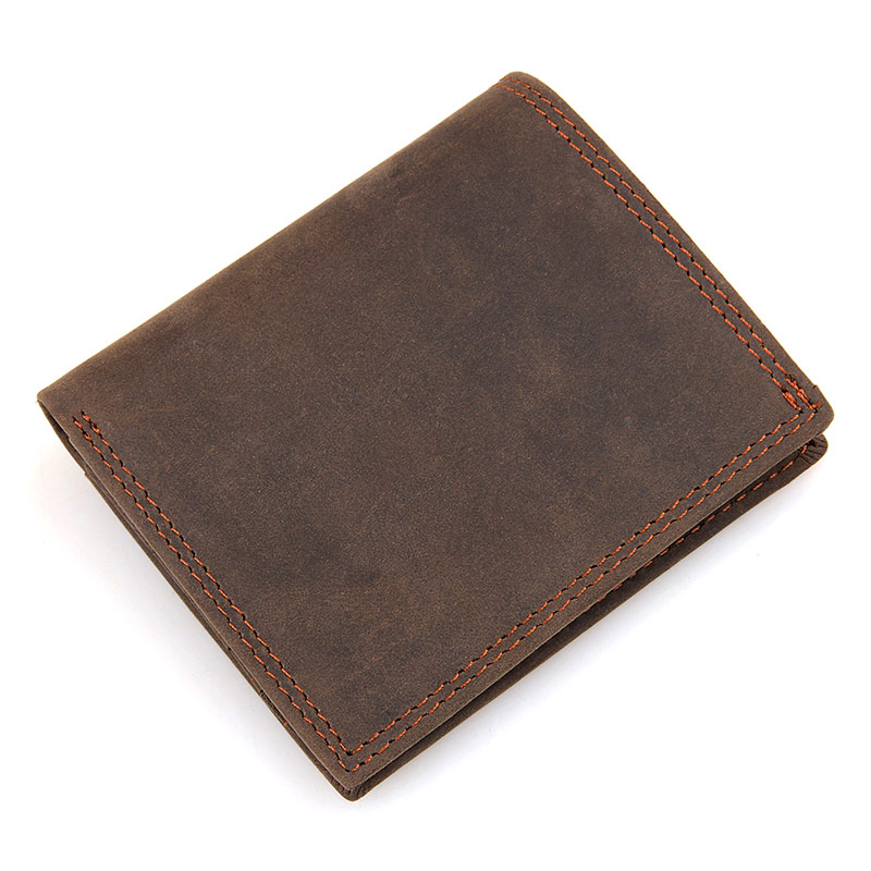 8144R Multifunction Tan Leather Real Cowhide Mens Wallet