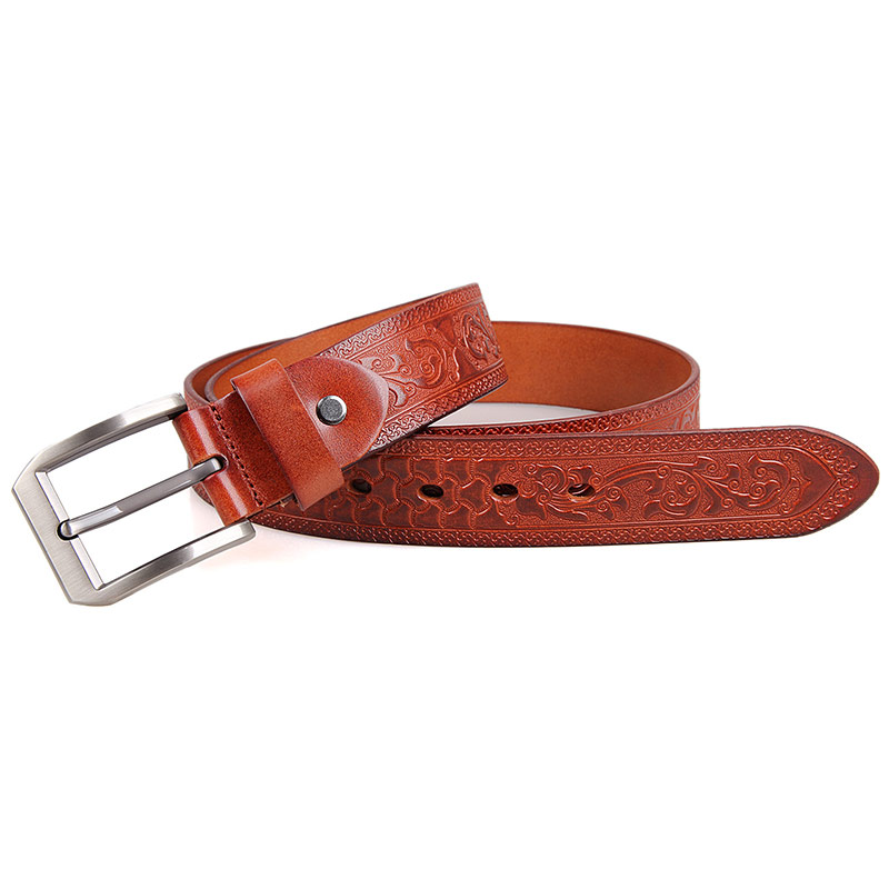 B001B-3 High Quality Vegetable Leather Adjustable Belt for Men Manufacturer