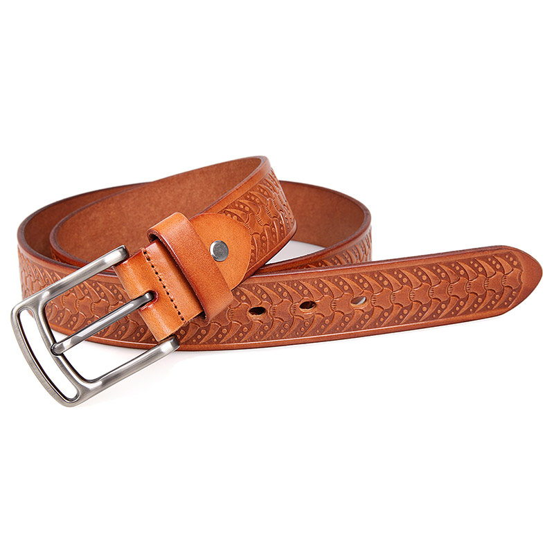 B015B-1 Italy Durable Vegetable Leather Brown Fashion Mens Belt Leather