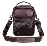 1010C Trend Coffee Cowhid Leather Men Ipad Messenger Bag Manufaturer China