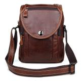 7354LC 100% Genuine Cow Leather Large Capacity Men Leather Purse Messenger Bag Phone Case Factory