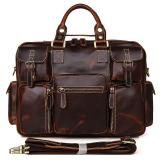 7028C Fashion Style Rare Cow Leather Men's Briefcase Laptop Bag for Men