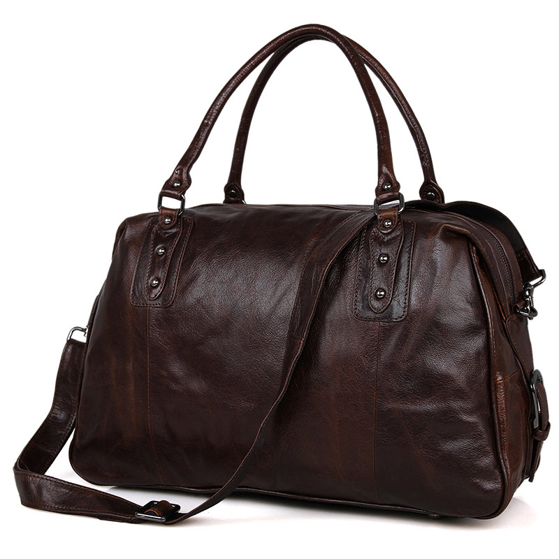 7071C Genuine Vintage Leather Unisex Coffee-Brown Handbag Tote Travel Bag Messenger