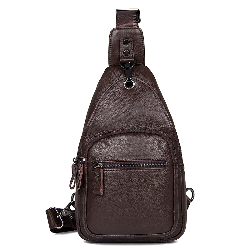 4008C Hot Selling Coffee Cow Leather Messenger Bag Backpack