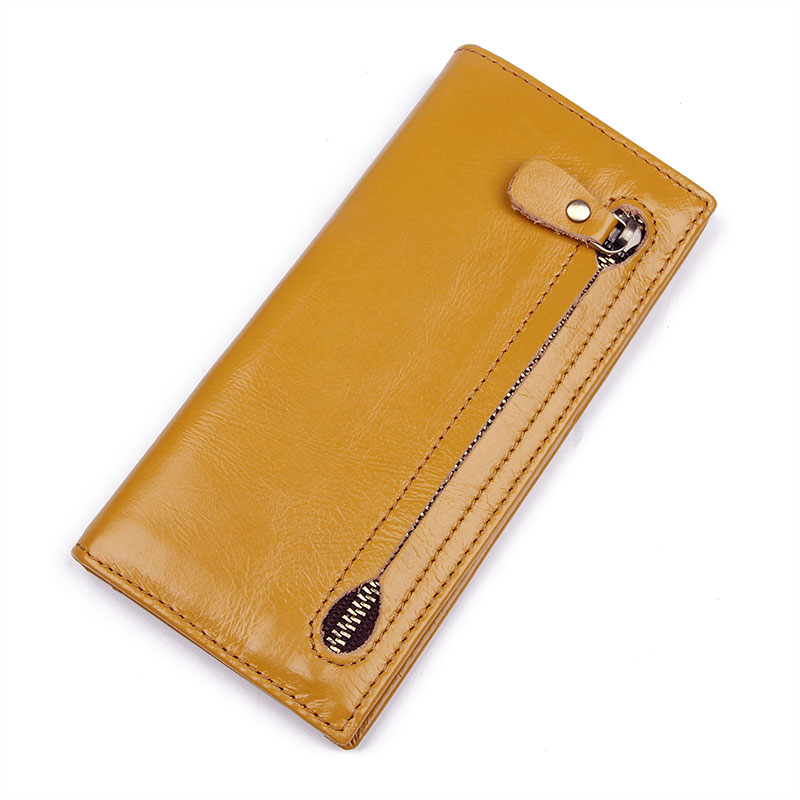 R-8122D Real Cow Leather Lady RFID Wallet US Purse