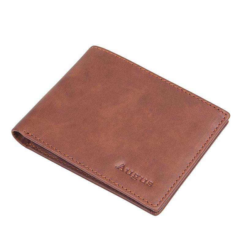R-8029SX-1 Wholesale Bright Brown RFID Card Holder Small Wallet