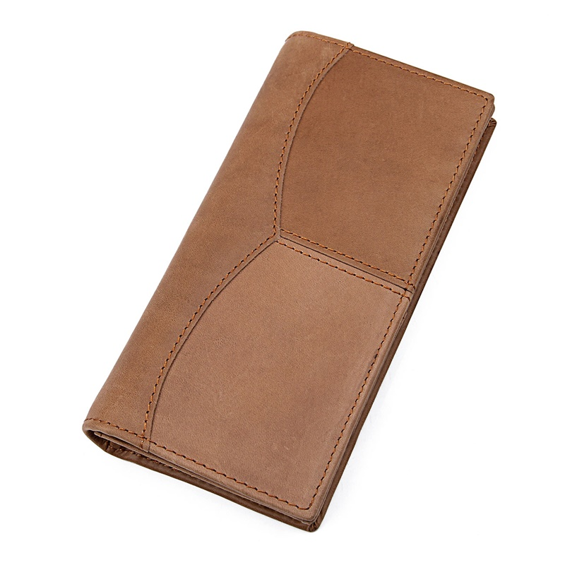 R-8059R-1 High Quality Cow Leather Long Style RFID Wallet