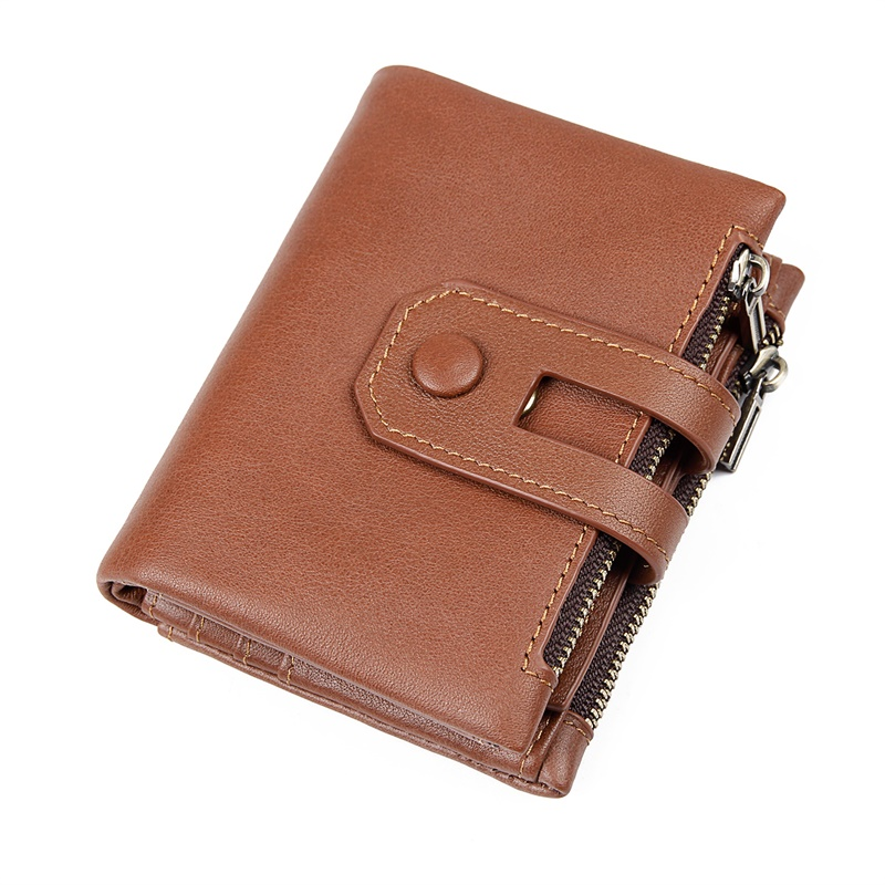 8442B Brown Cow Leather High Quality Wallet Lady's Card Holder